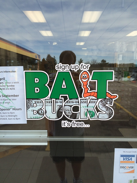 Bait Bucks at Dewey Catchem and How Bait Shop